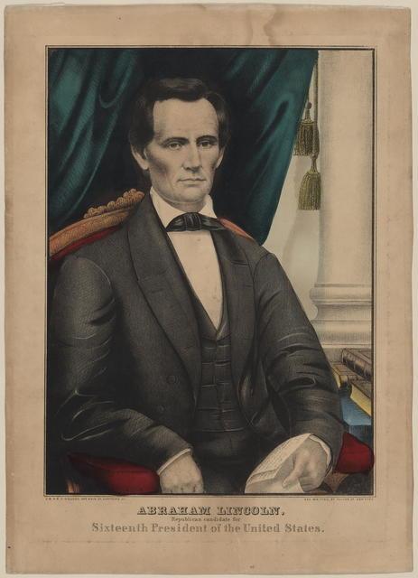 [Kellogg printers portrait of Lincoln.]
