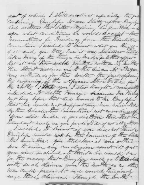 L. L. Hartman to Abraham Lincoln, Tuesday, July 17, 1860  (Congratulations, campaign efforts)