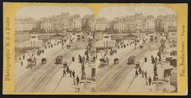 Le Pont-Neuf, vu du quai des Grands Augustins / Photographie H.J. à Paris.