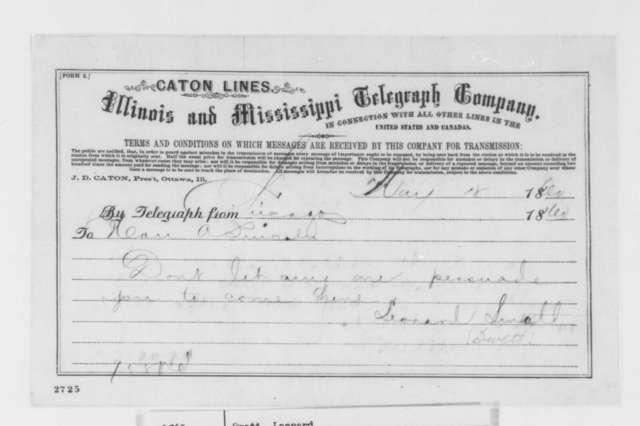 Leonard Swett to Abraham Lincoln, Friday, May 18, 1860  (Telegram; Advice)