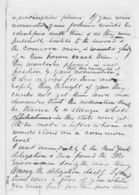 Leonard Swett to Abraham Lincoln, Friday, May 25, 1860  (Lincoln's nomination)