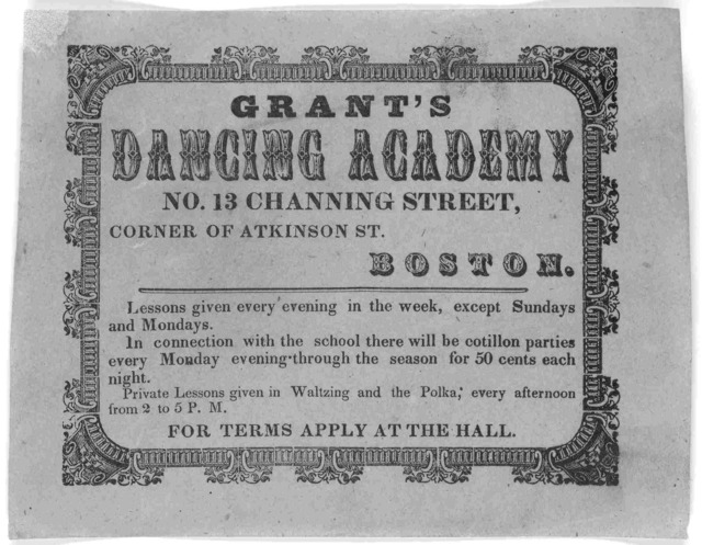 ... Lessons given every evening in the week, except Sundays and Mondays ... For terms apply at the Hall. [1860].