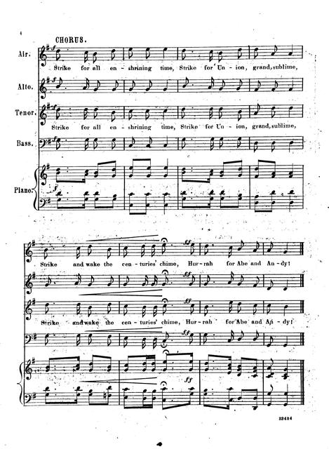 Liberty's call, or, Hurrah for Abe and Andy words by W.S. Blanchard; music by L.B. Starkweather.