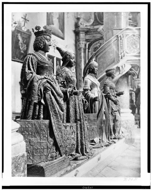 [Life-size statues which surround the tomb of Maximilian I, in the Hofkirche, Innsbruck, Austria]