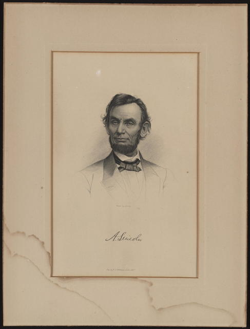 [Lincoln portrait engraved by E. G. Williams & Bro. based on a Brady photograph.]
