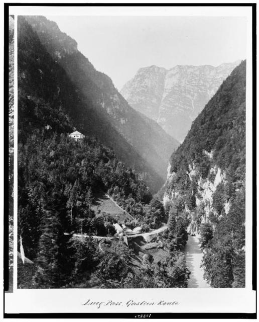 Lueg Pass. Gastein route