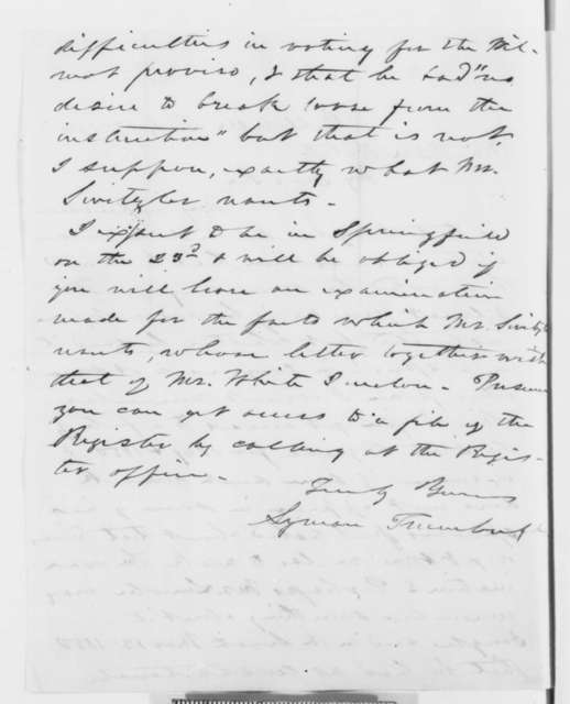 Lyman Trumbull to Ozias M. Hatch, Tuesday, July 17, 1860  (Douglas and Wilmot Proviso)