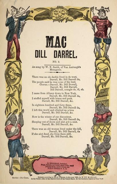Mac Dill Darrel. No. 3. H. De Marsan, Publisher, ... 38 & 60 Chatham Street, N. Y. [c. 1860]