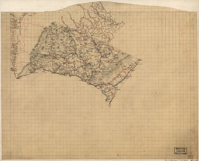 [Map of Albemarle County, north of the Virginia Central Railroad, and a portion of Augusta County along the south fork of the Shenandoah River].