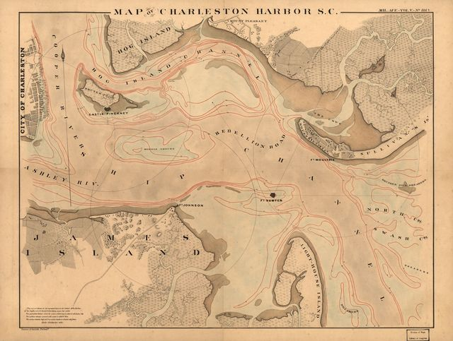 Map of Charleston Harbor, S.C.