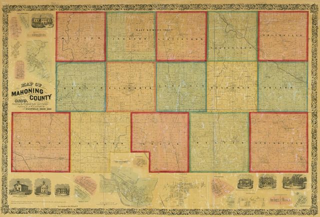 Map of Mahoning County, Ohio : showing the original lots and farm /