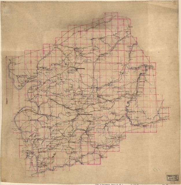 [Map of Montgomery County, Va.].