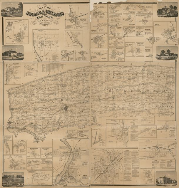 Map of Niagara and Orleans counties, New York /