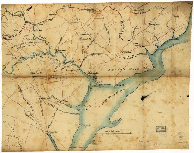 [Map of part of Fairfax and Prince William Counties, Virginia].