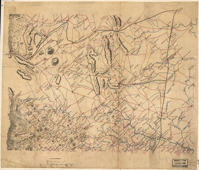 [Map of parts of Fauquier, Prince William, and Rappahannock counties, Va.].