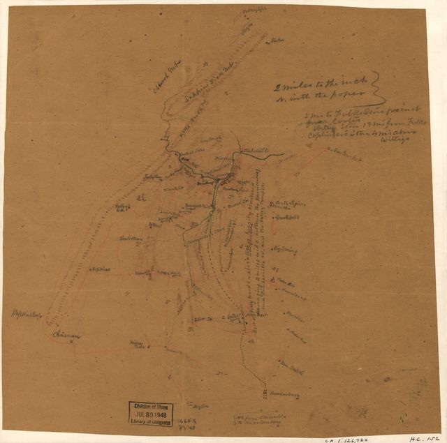 [Map of parts of Rockingham and Shenandoah counties, Virginia, including Harrisonburg and Orkney Springs].