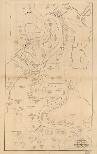 Map of plantations in Carrol [sic] Parish, Louisiana and Issaquena County, Mississippi /