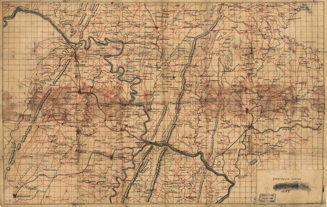 [Map of portions of Virginia, West Virginia, and Maryland, centering on Harpers Ferry and including Winchester, Hancock, Emmitsburg, and Ridgeville, Maryland.] /