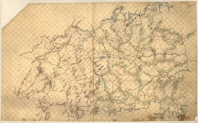 [Map of Spotsylvania and Caroline Counties, Virginia].