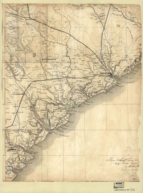 [Map of the coast of South Carolina, from Charleston to Savannah].