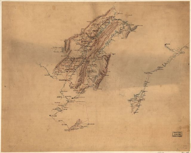 [Map of the Shenandoah Valley, from Front Royal and Middletown to Staunton, etc.].