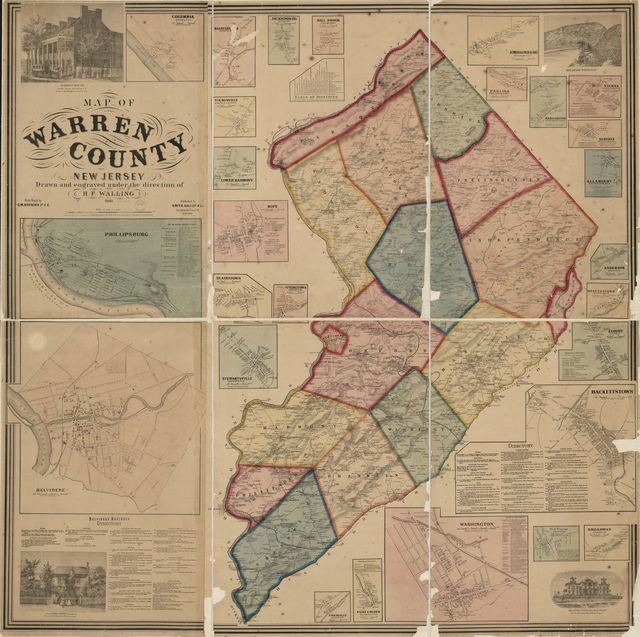 Map of Warren County, New Jersey /