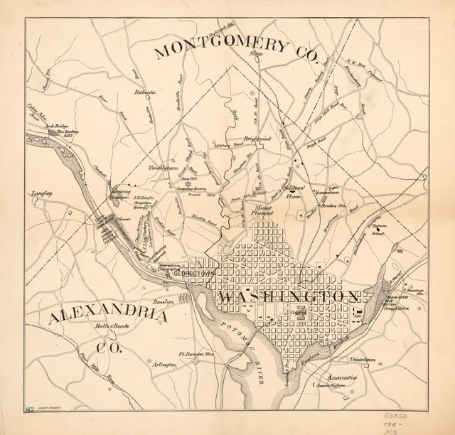 [Map of Washington D.C. and vicinity].