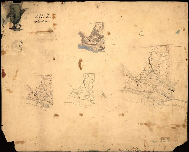 [Maps of the environs of forts Franklin, Alexander, and Ripley, in Montgomery County, Maryland].