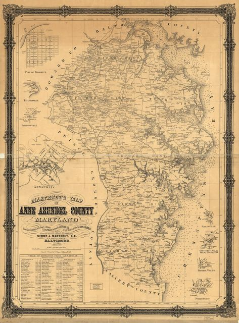 Martenet's map of Anne Arundel County, Maryland : shore lines, soundings, &c. &c. from U.S. surveys /
