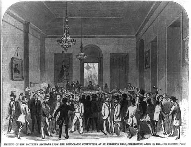 Meeting of the Southern seceeders from the Democratic Convention at St. Adnrew's Hall, Charleston, S.C. April 30, 1860