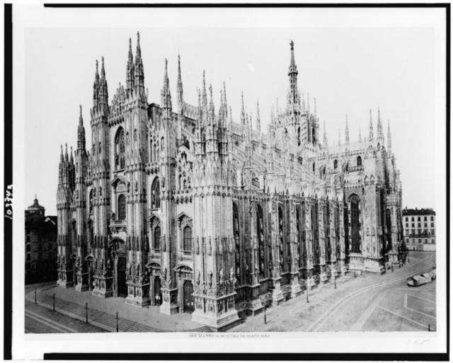 Milano. La Cattedrale dal Palazzo Reale