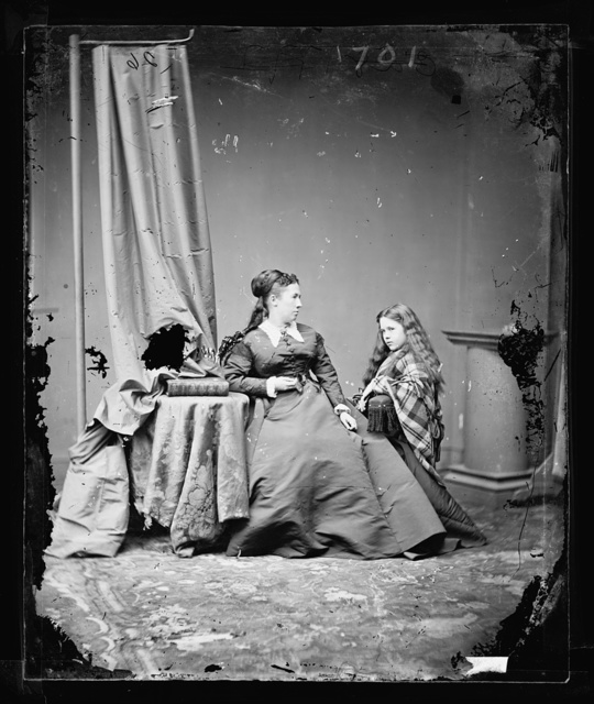 Mrs. U.S. Grant and daughter[?]