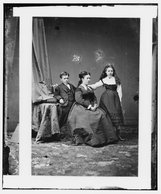 Mrs. U.S. Grant and daughter (Nellie) and son