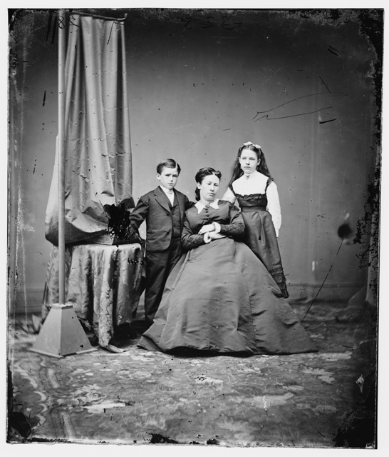 Mrs. U.S. Grant with daughter and son