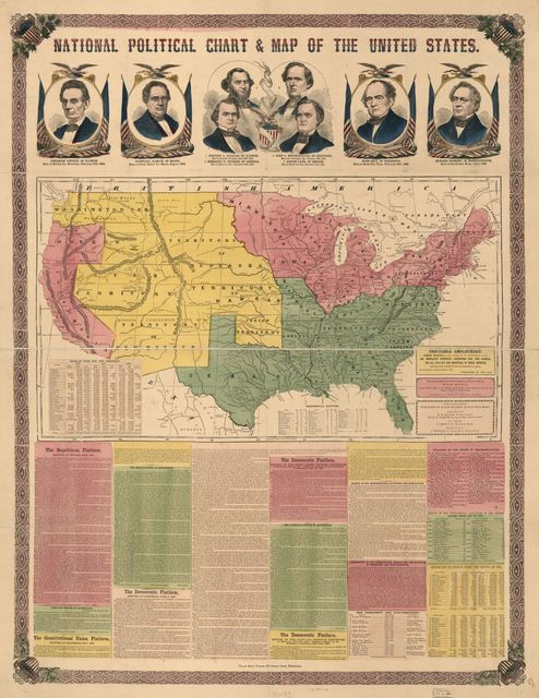 National political chart & map of the United States.