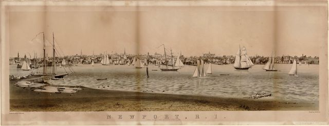 Newport, R.I. : view from Fort Wolcott, Goat Island /