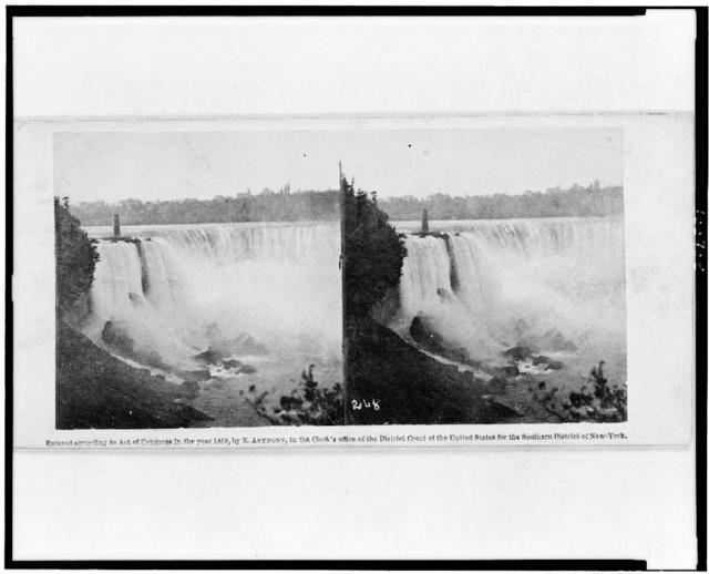 Niagara. General view of the Horseshoe Fall from Biddle's Stair Case