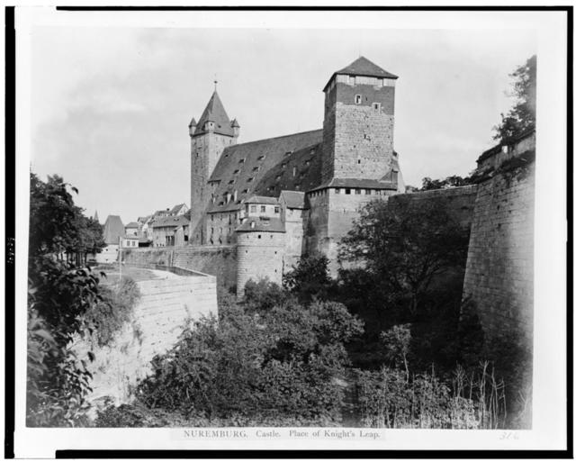Nuremberg. Old castle--place of knight's leap