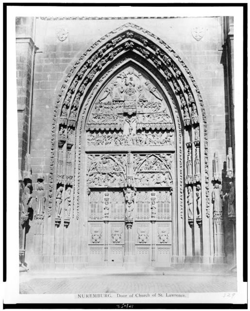Nuremburg. Door of church of St. Lawrence