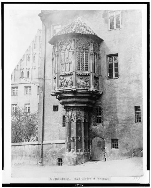 Nuremburg. Oriel window of parsonage