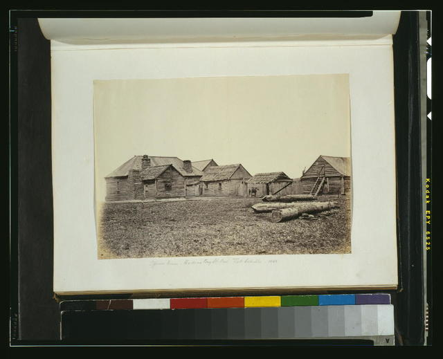 Officers' house, Hudson's Bay Co's. Fort Colville, 1860
