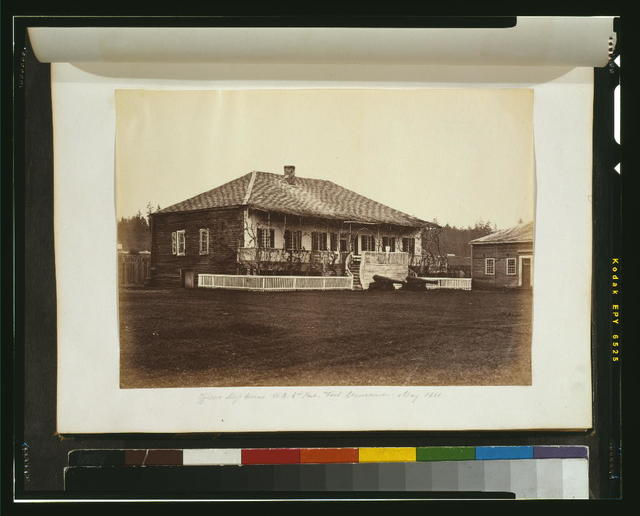 Officers' mess house, H. B. Co's. [i.e., Hudson's Bay Company's] post, Fort Vancouver, May 1860