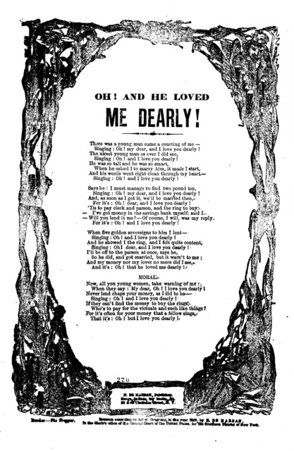 Oh! and he loved me dearly! H. De Marsan, Publisher, 38 & 60 Chatham Street, N. Y