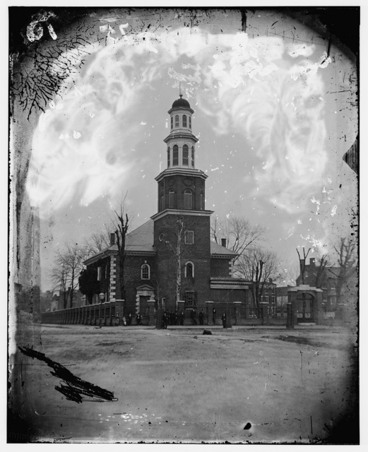 Old Christ Church, Alexandria, VA (where George Washington attended church). Photographed in the 1860's (?)