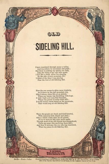 Old sideling hill. H. De Marsan, Publisher, 38 & 60 Chatham Street, N. Y. [c. 1860]