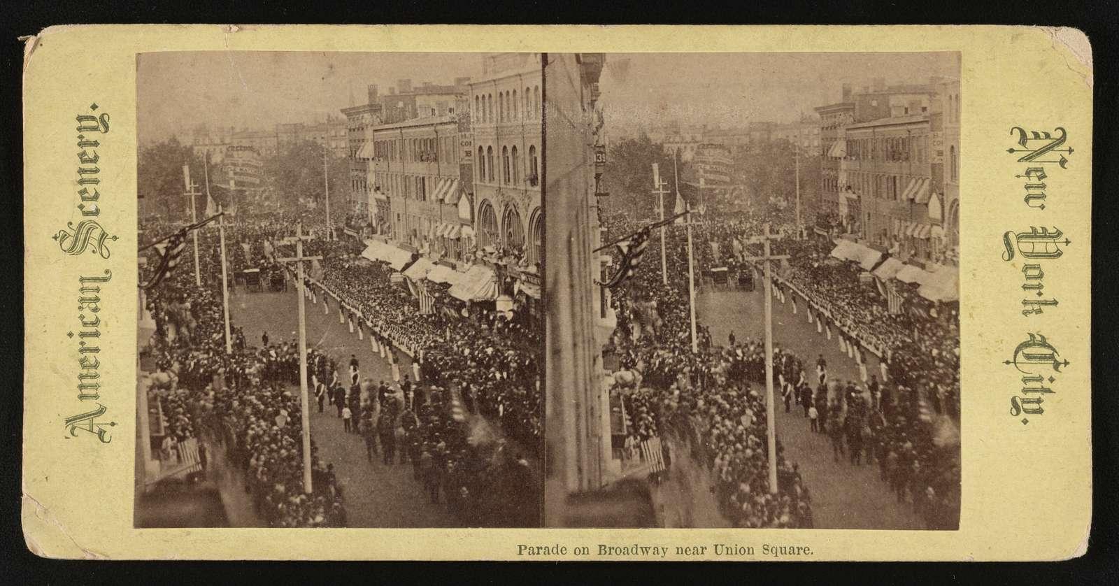 Parade on Broadway near Union Square