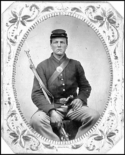 [Portrait of Pvt. George A. Stryker, New York Regiment, U.S.A.]