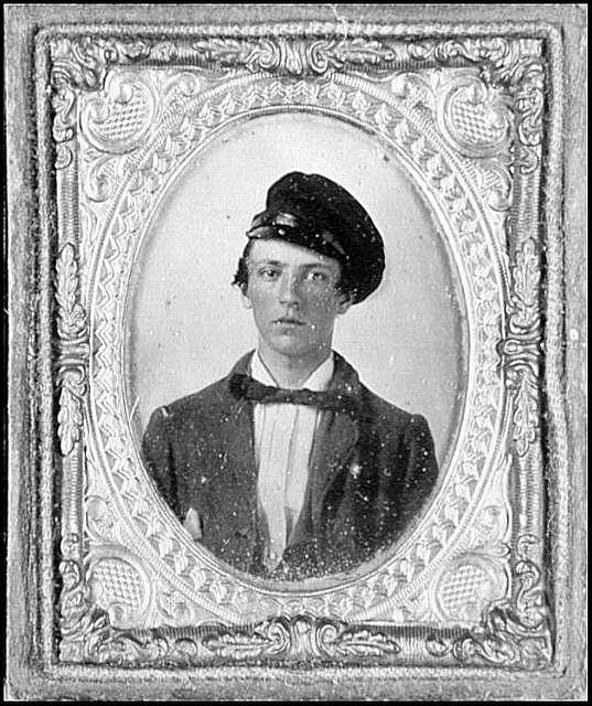 Portrait of Pvt. George Henry, Virginia Regiment, killed at Brandy Station, Va.