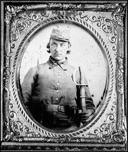 [Portrait of Pvt. Philip Carper, 35th Battalion, Virginia Cavalry, C.S.A.]