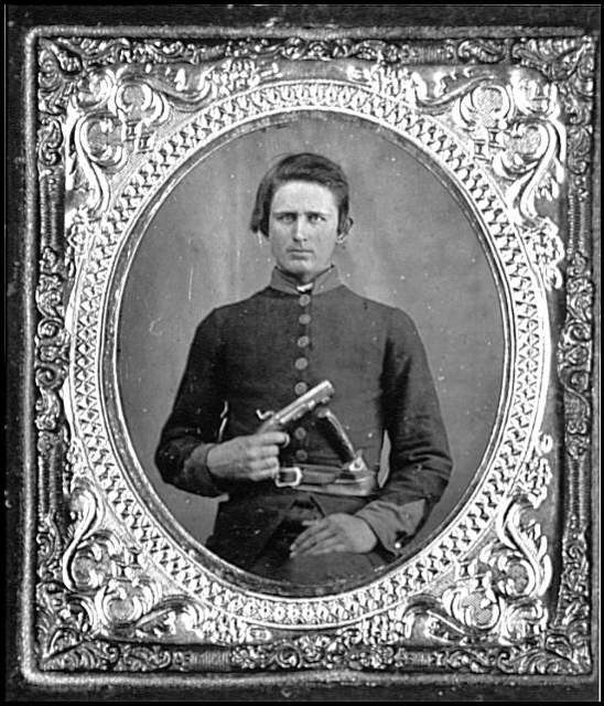 [Portrait of Pvt. Robert Patterson, Company D, 12th Tennessee Infantry, C.S.A.]
